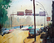 Watercolor Paintings - Saint Christophe Bridge by Andre MEHU