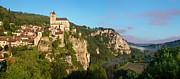 Saint Cirq Panoramic Print by Brian Jannsen
