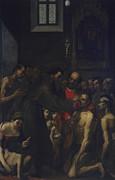 Saint Diego From Alcal?, By Jacopo Print by Jacopo Ligozzi