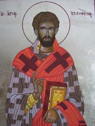 Orthodox Icons Paintings - Saint Eleftherios by Athanasios Skouras