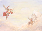 Devotional Paintings - Saint Elijah Ascending by John Alan  Warford