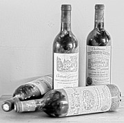 French Wine Bottles Photo Prints - Saint Emilion  Print by Georgia Fowler