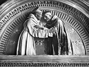 Medieval Sculptures - Saint Francis And Saint Dominic by Granger
