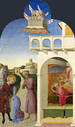 Famous Artists - Saint Francis and the Poor Knight and Francis Vision by Sassetta