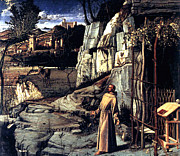 St. Francis Of Assisi Prints - Saint Francis in Ecstasy 1485 Giovanni Bellini Print by Karon Melillo DeVega