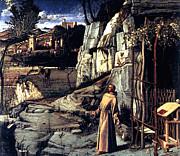 Saint Francis In Ecstasy 1485 Giovanni Bellini Print by Karon Melillo DeVega