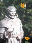 Watching Over Posters - Saint Francis in the Garden Poster by Belinda Lee