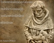 Francis Digital Art Posters - Saint Francis Of Assisi Poster by Dan Sproul