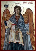 Byzantine Mixed Media - Saint Gabriel by Filip Mihail