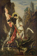 Gustave Moraeau - Saint George and the Dragon by Gustave Moreau