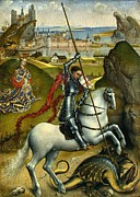 Slaying Paintings - Saint George and the Dragon by Roger van der Weyden