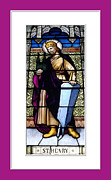 Stained Glass Art - Saint Henry Stained Glass Window by Rose Santuci-Sofranko