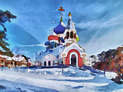Siberia Digital Art - Saint Igor Chernigov Church 1 by Yury Malkov