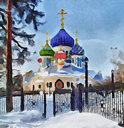 Siberia Digital Art - Saint Igor Chernigov Church 2 by Yury Malkov