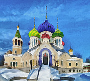 Siberia Digital Art - Saint Igor Chernigov Church 3 by Yury Malkov