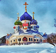 Siberia Digital Art - Saint Igor Chernigov Church 4 by Yury Malkov