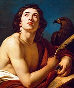 St John The Evangelist Paintings - Saint John the Evangelist by Francois Andre Vincent