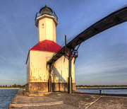 Saint Joseph Prints - Saint Joseph Inner Range Lighthouse Print by Twenty Two North Photography