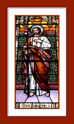 Artists4god Prints - Saint Joseph  Stained Glass Window Print by Rose Santuci-Sofranko