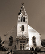 Tim Moore Metal Prints - Saint Josephs Catholic Church Metal Print by Tim Moore