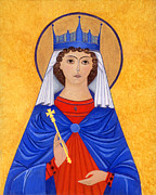 Orthodox Paintings - Saint Katherine by Jacqueline Savidge
