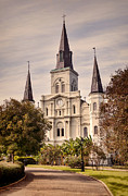 Warm Tones Photo Framed Prints - Saint Louis Cathedral Framed Print by Heather Applegate