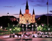 New Orleans Scenes Art - Saint Louis Cathedral New Orleans by Allen Beatty