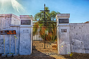 Running Of The Bulls Posters - Saint Louis Cemetery Number One Poster by Sennie Pierson