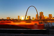 Saint Louis Morning Train Print by David Yunker