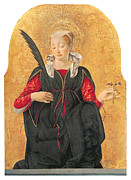 Francesco Painting Posters - Saint Lucy Poster by Francesco Del Cossa