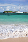 Caribbean Sea Framed Prints - Saint Maarten Framed Print by Brian Jannsen
