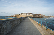 Urban Buildings Pastels Posters - Saint Malo France Poster by Francesco Emanuele Carucci