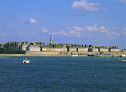 Town Pier Photos - Saint Malo. Ille et Vilaine. Brittany. Bretagne. France. Europe by Bernard Jaubert