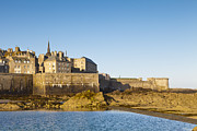 St Photos - Saint Malo St-Malo Brittany France Ramparts Town Beach by Colin and Linda McKie