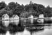 St Margaret Photo Posters - Saint Margarets Bay - bw Poster by Nikolyn McDonald