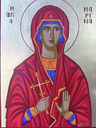 Orthodox Icons Paintings - Saint Marina by Athanasios Skouras