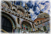 Byzantine Photo Framed Prints - Saint Marks Basilica Framed Print by Lee Dos Santos