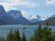 Cloud Mixed Media - Saint Mary Lake - Glacier National Park by Photography Moments - Sandi