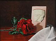 Religious Artist Art - Saint Mary Magdalene Rose by Daniel Kansky