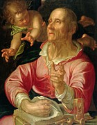 Glass Paintings - Saint Matthew by Joachim Wtewael