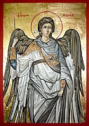 Byzantine Icon. Metal Prints - Saint Michael Metal Print by Filip Mihail