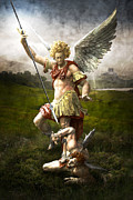 Archangel Prints - Saint Michaels Triumpf Print by Marc Huebner