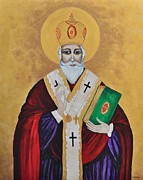 Saint Nicholas Paintings - Saint Nicholas by Sally Rice