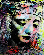 Statue Portrait Mixed Media Prints - Saint of Seven Sorrows Print by Penelope Stephensen
