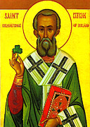 Patrick Framed Prints - Saint Patrick Enlightener of Ireland Framed Print by Digital Reproductions
