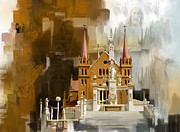 National Park Paintings - Saint Patricks Cathedral Church by Catf