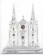 St. Patrick Paintings - Saint Patricks Cathedral by Lynn Lieberman
