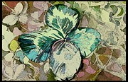 Mindy Newman Digital Art Posters - Saint Patricks Four Leaf Clover Poster by Mindy Newman