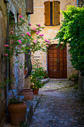 Saint Paul De Vence Framed Prints - Saint Paul Alley Framed Print by Inge Johnsson