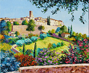 Old Town Digital Art Framed Prints - Saint Paul de Vence Framed Print by Jean-Marc Janiaczyk